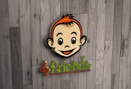 4Friends Logo Design Steps
